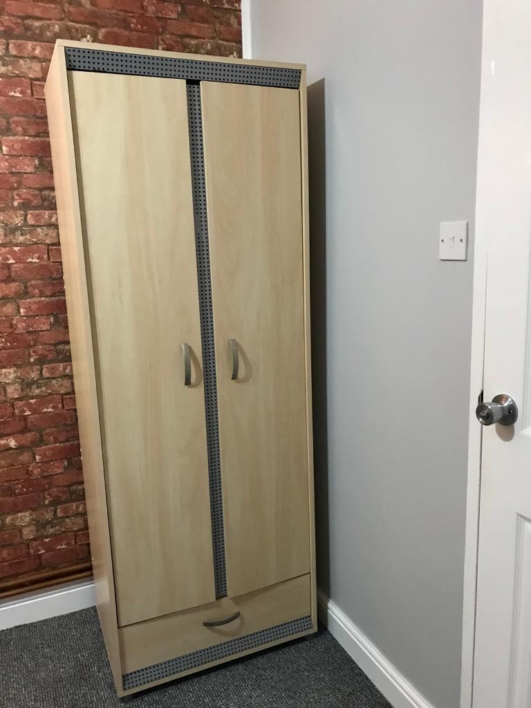 2 door wardrobe with draw