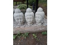 Large Buddha's Heads Homemade Concrete Garden Statues New