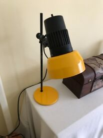 Stylish Habitat yellow and black desk lamp