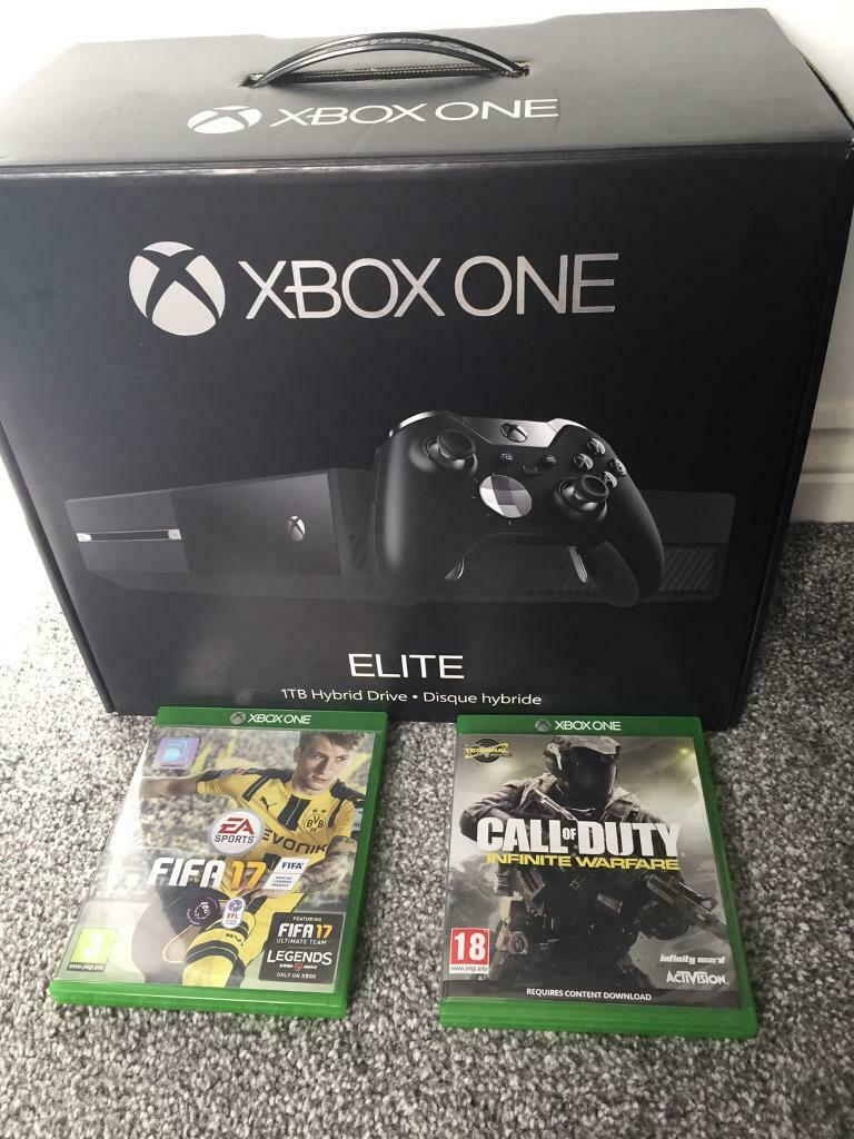*IDEAL GIFT* XBox One Elite 1TB with original box, controller and headset  and 2 games | in Airdrie, North Lanarkshire | Gumtree