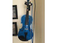 Beautiful blue violin