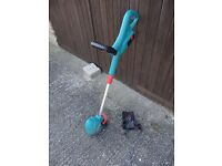 Bosch Battery Powered Strimmer for Sale. Little used. Includes charger.