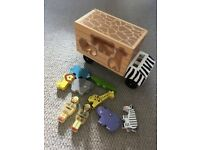 Melissa and Doug Wooden Animal Rescue Shape Sorter Truck