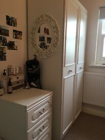 Wardrobe and bedside cabinet