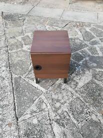 Small brown storage unit