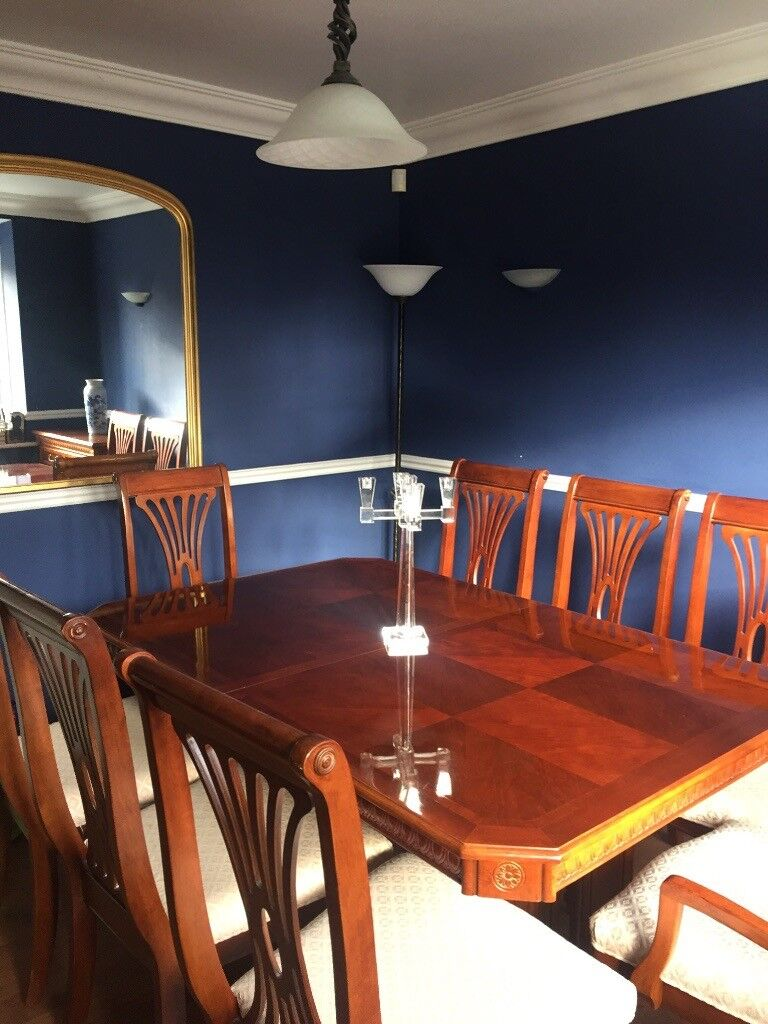 Dining Table And Chairs Extendable Display Cabinet Serving