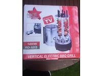 Table Vertical Electric BBQ Grill with 5 Shish kebab new.