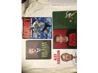 Selection of football books