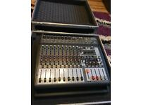 Behringer PMP3000 powered mixer with flightcase
