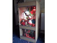 4ft vivarium chameleon setup, lots of accessories. XL java centre piece branch, cricket tanks & more