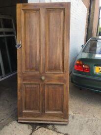 Solid Oak Front Door 4 Panel wide