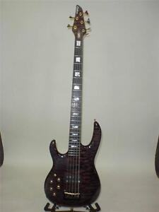 Carvin-LB-75-Left-Handed-5-String-Electric-Bass-Guitar-Lefty-AS-IS-BROKEN