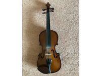 Stentor Violin; 1/2 Size (Student); Case; 2 x Bows; Shoulder Rest