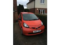 Toyota Aygo 998cc Red MOT Until December only£20 tax £1350.00