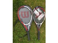 2-off tennis racket in good condition - only £5 for both