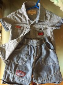 18-24 months lee cooper short and shirt set