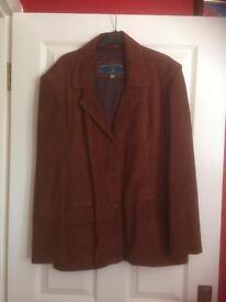 Men's Tan Suede Jacket Size 2XL