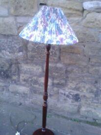 Modern Mahogany Standard Lamp