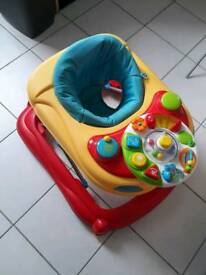 Lot of baby bouncer, walker and safety gate