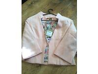 BRAND NEW house of fraser sz 12 blush pink blazer ho