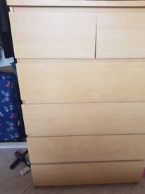 Chest of 6 Drawers wooden