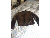 Men's genuine real leather jacket
