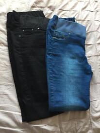 Maternity jeans x2 size 16