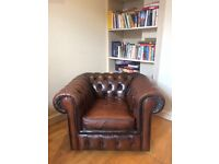 For Sale: Brown Chesterfield Armchair