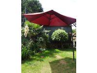 Huge Canterlever Hanging Garden Parasol (Burgundy) 3m.