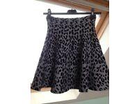 Leopard print skirt size 10