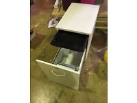 Pedestal unit white persobox see pictures