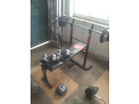 Weights Bench, Barbell, dumbbells, Squat Bar and Weights For sale