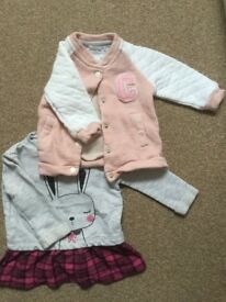 Girls 3-6 month jacket and tunic/dress from F&F
