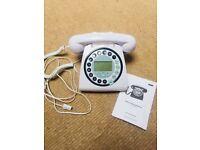 White push button retro style phone