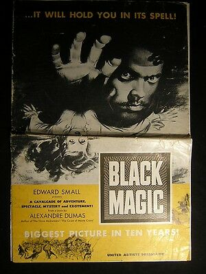 1949 BLACK MAGIC Orson Welles Movie Pressbook OS60