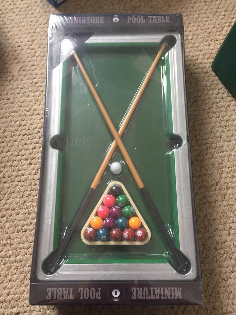 Miniature snooker table brand new desk top