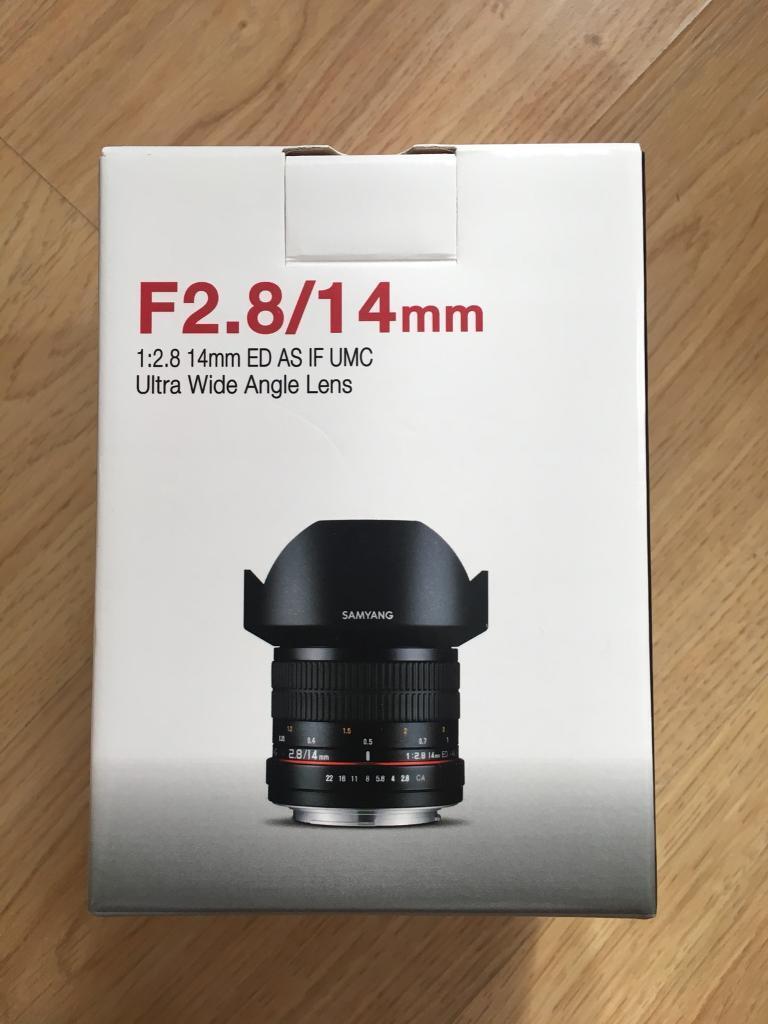 Samyang 14mm F/2.8 IF ED UMC Wide-Angle Lens For Canon