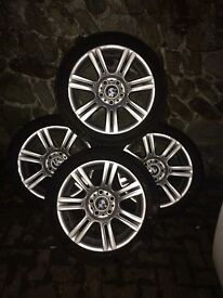 "Bmw M sport 17"" alloy wheels with tyres"
