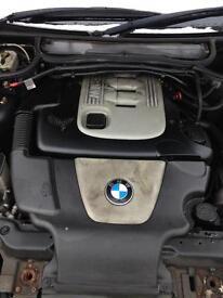 BMW 3 Series E46 320d Bare Engine 2004 Plate