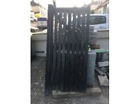 Wooden side Gate from Wickes, already assembled. In use for 1 yr. Would fit an 88cm x 200cm opening