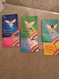 6 Rainbow magic fairy books