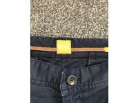 Hugo Boss Men's Blue Chinos Trousers - Size 36/32 Regular Fit, Never Worn