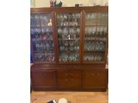 Oakwood display cabinet