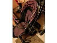 unisex pram, carseat and base