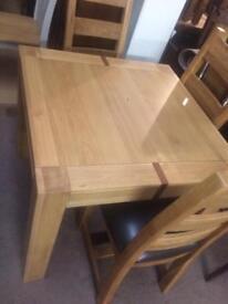 Square oak table new sale