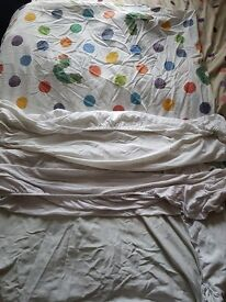 Cotbed mattress quilt with cover 3 cotbed sheets
