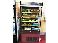 2 Stainless Steel Commercial Display Fridges in Good Condition for £500