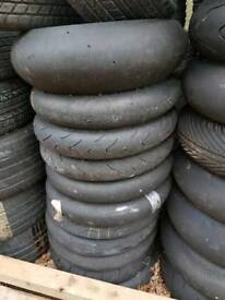 18 Motorbike track day tyres slicks front and rear zx6 zx10
