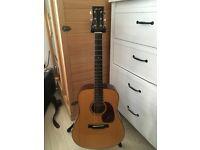 Collings D1AV Dreadnought Guitar + K&K Pickup Good Condition