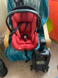 Joie ilevel isize car seat with isofix base